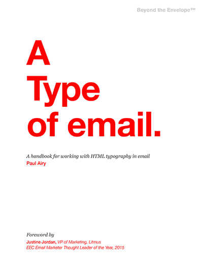 A Type of Email book cover